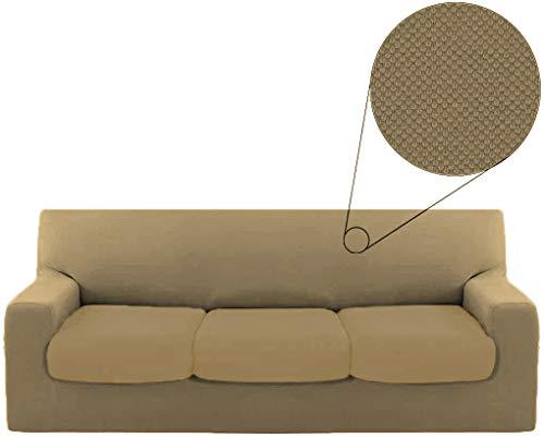 BIANCALUNA Funda para sofá de 3 plazas Genius de 180 a 250 cm, Color Gris