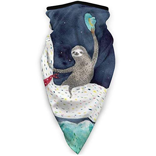 Sports Headscarf Sloths Riding A Llama Outdoor Windproof Face Headscarf Balaclava Ski Headscarf Scarf Bandana Men Woman Black