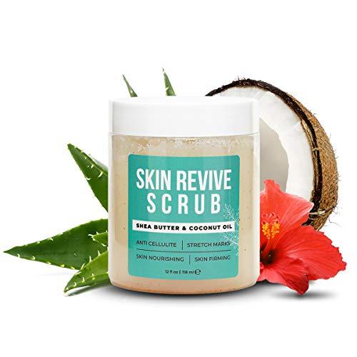 Skin Revive Scrub - Cellulite Remover - Body Scrub For Women - Body Exfoliator - Body Scrub For Women Exfoliation - Stretch Mark Removal - Booty Scrub With Anti Cellulite Oil - Butt Scrub - BODY MAXX
