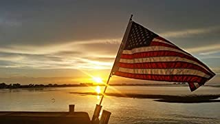 Cool Water Products Rod Holder Boat Flag Pole with American Made (Valley Forge) USA Flag (4 Foot Length)