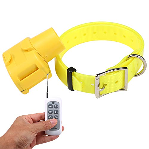 Lixada Beeper del Cane da Caccia con Telecomando 8 modalità Audio Indicatore Cacciatore Giallo Impermeabile Collare di Addestramento per Cani per Cani di Taglia Medio-Piccola