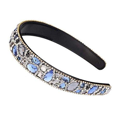 Bracelet perlé en perles large Bandeau Bling Bling Rhinestone Headband pour femmes
