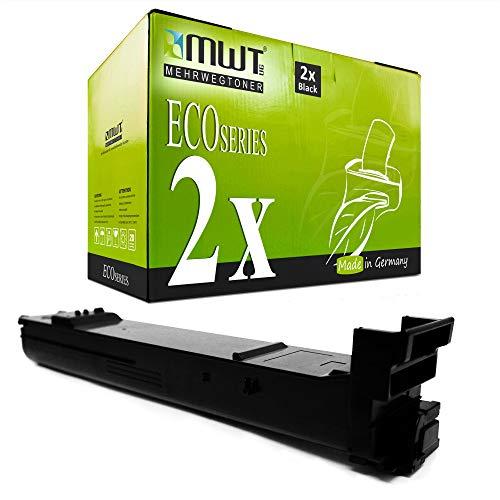 2X MWT Toner für Konica Minolta Bizhub C 20 wie A0DK153 Black Schwarz Patronen Druckerpatronen