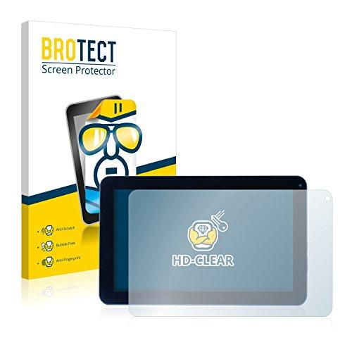 BROTECT Schutzfolie kompatibel mit Captiva Pad 10 3G Kommunikator 2015 (2 Stück) klare Bildschirmschutz-Folie