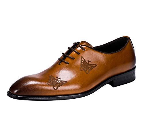 YOWAX Simples Elegantes Zapatos para Hombre Zapatos de Cuero de Zapatos de...