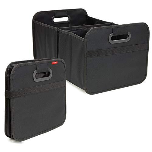 achilles Auto Faltbox, Kofferraum-Organizer, Faltbare Autotasche, Faltkorb, Aufbewahrung Taschen, Kofferraumtasche, schwarz, 50 cm x 32 cm x 27 cm