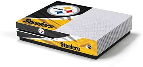 Skinit Decal Gaming Skin Compatible with Xbox One S Console - Officially Licensed NFL Pittsburgh Steelers Design