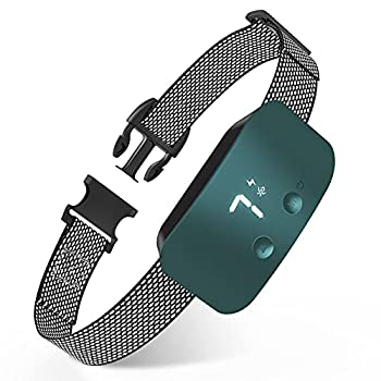 NBJU Bark Collar for Dogs,Rechargeable Anti Barking Training Collar with 7 Adjustable Sensitivity and Intensity Beep Vibration for Small Medium Large Dogs  Blackish Green