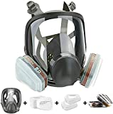 15 in1 Full Face Large Size Reusable Respirator,Widely Used in Organic Gas,Paint spary, Chemical,Woodworking,Same as 6000 7800 FF-400 6000DIN V-Series(for 6800 Respirator)
