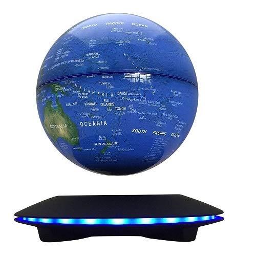 WHOLEV Magnetschwebebahn Globen LED Wireless Übertragung Touch Control DREI Gänge 6