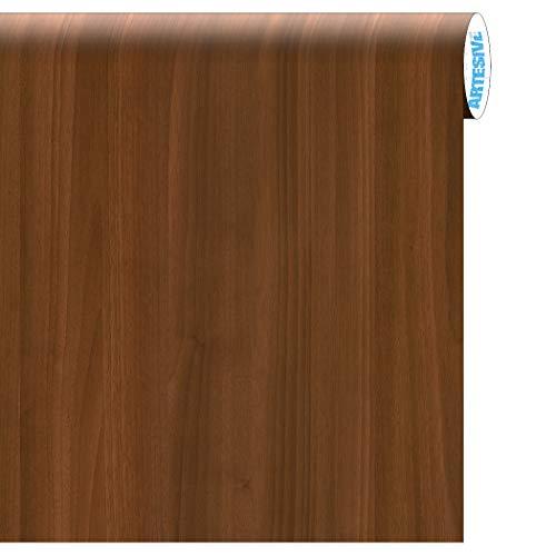 Artesive WD-021 Noce Europeo Medio Opaco larg. 90 cm AL METRO LINEARE- Pellicola Adesiva effetto legno per decorazione interni per rinnovare mobili, porte e oggetti di casa