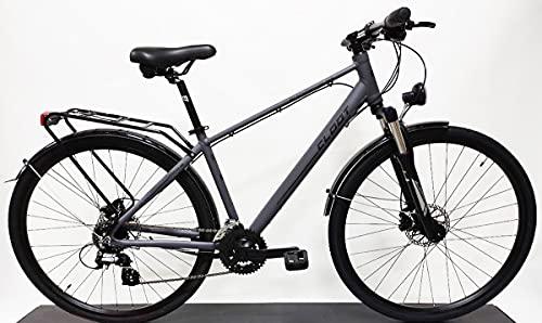 CLOOT Bicicleta hibrida o Trekking Adventure 7.1 Disc Shimano 24V con Horquilla con Bloqueo y Frenos de Disco hidráulicos, Bicicletas para Hombre y para Mujer.(Talla L (176-188))