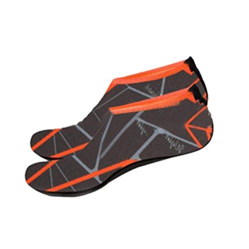 QinMM Männer Frauen Unisex Outdoor Wassersport Tauchen Schwimmen Socken Yoga Socken Soft Beach Schuhe Laufen Sportbekleidung Mode Sandalen Stilvolle Orange Blau Pink Navy Grey (38-39, Grau)