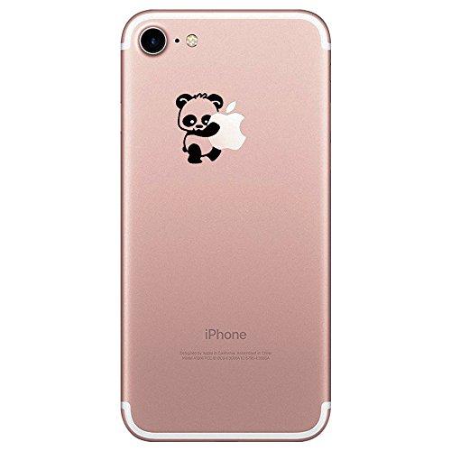 iPhone 7 Hülle, transparentes TPU Case Silikon der Tiere Backcover Handyhülle kreatives Design Panda Muster Bedecken zurück für Apfel iPhone 7 Case Cover (Bären Äpfel)