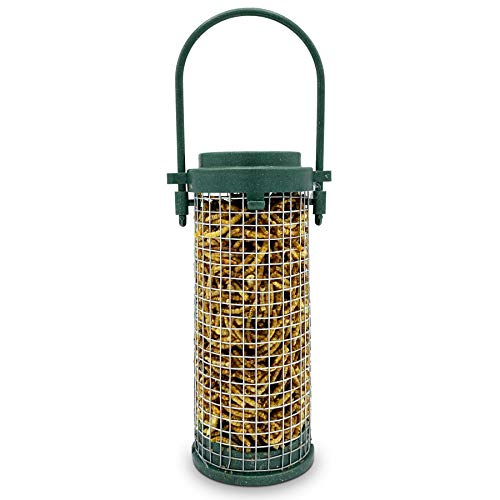 Eco Friendly Bird Feeder with Mealworms Included - Recycled Plastic Hanging Feeders for Garden Birds- Attracting Tits, Finches, Robins & many more Wild Birds