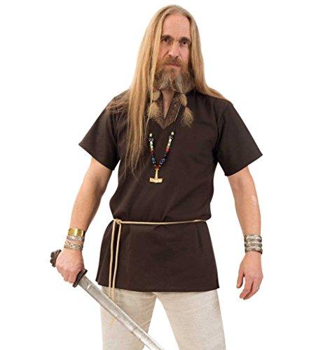KarnevalsTeufel Tunika edel braun Mittelalter-Kostüm Herren-Outfit Faschings-Hemd (XXL)
