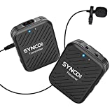 SYNCO G1(A1) 2.4GHz Sistema Micrófono-Inalámbrico-Reflex-Solapa-DSLR Microfono Corbata Profesional para Móvil, Cámara, Videocámara, Laptop y Tablet, Compatibla para Canon, Sony, Nikon, Fujifilm