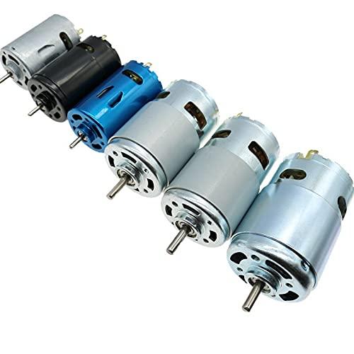 ZGQA-GQA Motor de CC 6V/7.4/12V/18V/24V 3000-15000RPM Torsión grande de alta velocidad DC 390/540/550/555/775/795/895 Motor eléctrico herramienta (velocidad (RPM) : 555 fuerte magnético)