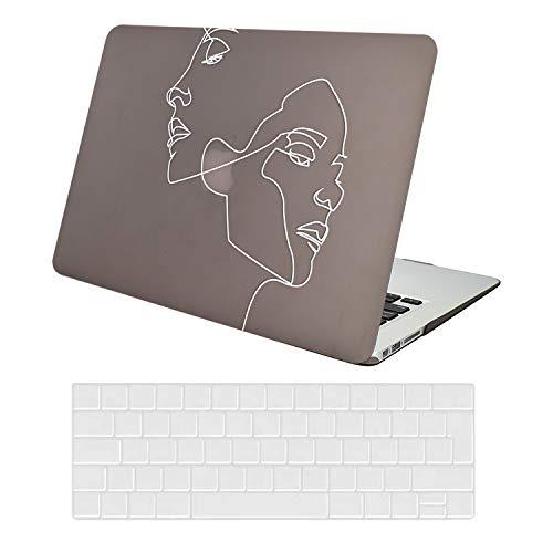 AUSMIX Hülle für MacBook Air 13 Zoll Hülle 2020/2019/2018 Release, Plastik Hard Shell Cover & Keyboard Skin Cover Nur kompatibel für New MacBook Air 13 Zoll M1 A2337/ A2179 / A1932,Gesicht