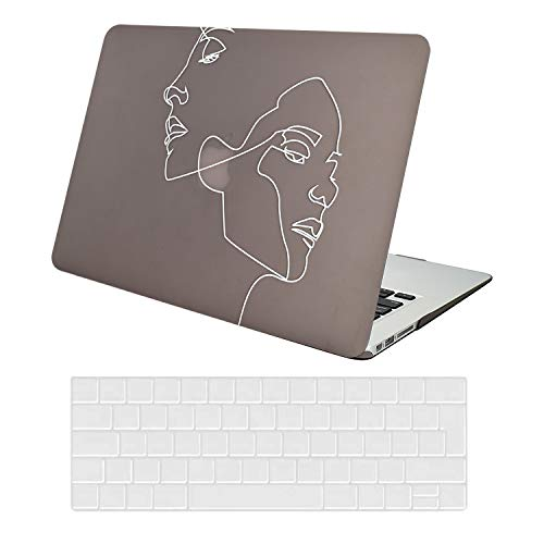 KEROM - Carcasa para MacBook Pro de 13 pulgadas M1 A2338 A2289 A2251 A2159 A1989 A1708 A1706, piel carcasa rígida funda y protección teclado para MacBook Pro 13 con / sin Touch Bar – Hombre y mujer