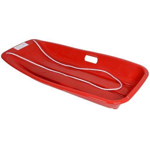 KandyToys - Trineo grande de plástico (con cuerda), color rojo