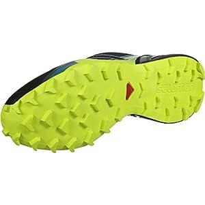 Salomon Men's Speedcross 4 Trail Running Shoes, Black/Everglade./Sulphur Spring, 11.5 M US