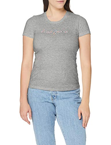 Pepe Jeans Dorita Camiseta, Gris (933), Medium para Mujer