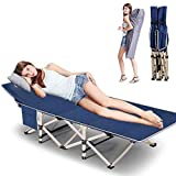 FICISOG Folding Camping cot Folding cot with Carry Bag, Camping Cot for Adults Portable Folding Outdoor cot Carry Bags for Outdoor...