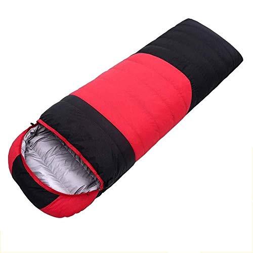 BABY Sacs de Couchage de Camping - Temps Chaud et Froid 3 Saisons (imperméable léger) pour Le matériel de Camping, Les Voyages et Les activités de Plein air pour Adultes (Color : Red)