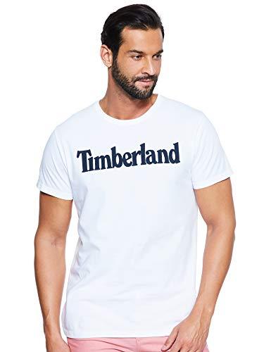 Timberland SS Kennebec River Brand Regular tee (Tree & Linear) Camiseta, Blanco (White Linear H79), X-Large para Hombre