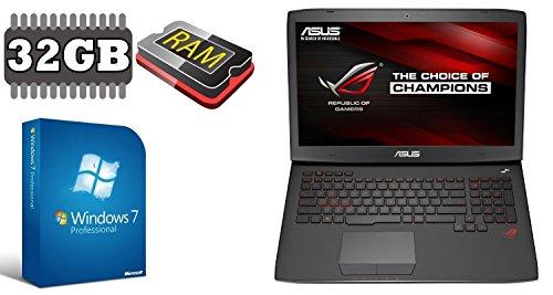 """ASUS G751 ~ 500GB SSD + 1TB ~ 32GB RAM ~ WINDOWS 7 PRO ~ 44cm (17.3"""" FULL HD TFT MATT) ~ 3GB NVIDIA GTX 970M (500GB SSD + 1000GB HDD)"""