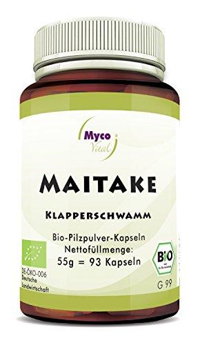 Maitake 93 Pilz-Kapseln je 650mg Maitake Pulver 100% Vegan & Bio Maitake Pilze Natürliche Alternative zu Maitake Extrakt Kapseln Bio