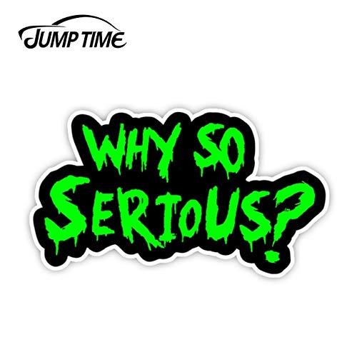 FAFPAY Car sticker Jumping time 13cm x 7.2cm why so serious # 2 sticker decal joker bad body green window portable truck wall car accessoriesLcai-6428