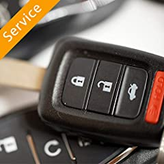 On-site programming of 1 customer supplied key by expert automotive locksmith Verify product compatibility with vehicle  Cut and program key/remote for your vehicle  Verify the fob functions per programmed features  Typical service duration of 1 hour...