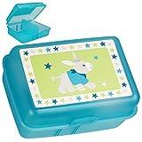 alles-meine.de GmbH Lunchbox / Brotdose -  Esel - Pferd & Sterne  - BPA frei - mit Trennwand / herausnehmbaren Fach - durchsichtig transparent - Brotbüchse Küche Essen - für Mä..