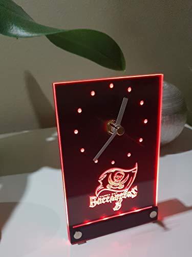 Tampa Bay Buccanneers Led Tischuhr Tischlampe Neonschild Neu 3D Neon Uhr Wanduhr