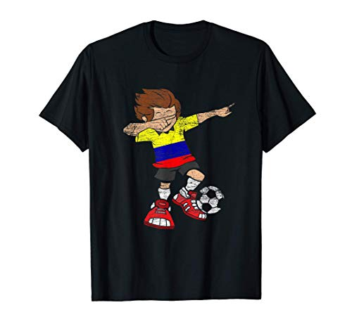 Football Dab Colombian Jersey Soccer Boy Colombia Gift T-Shirt