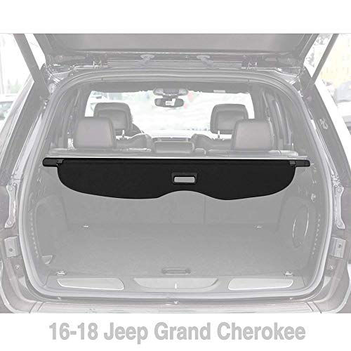 Retractable Cargo Cover Replacement for 2016-2018 Jeep Grand Cherokee Security Rear Trunk Cover