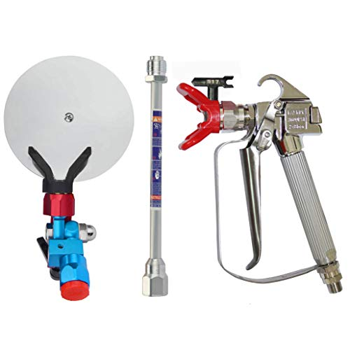 DUSICHIN DUS-138 Airless Paint Spray Gun High Pressure 3600 PSI 517 TIP Swivel Joint with 10 inches Extension Spray Guide Accessory for All Paint Sprayer