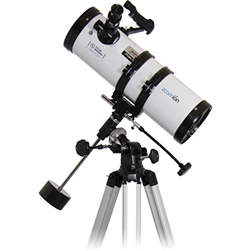 Zoomion Philae 114/500 EQ Reflector telescopio - anteojo astronómico con trípode, Montura y oculares para niños y Principiantes