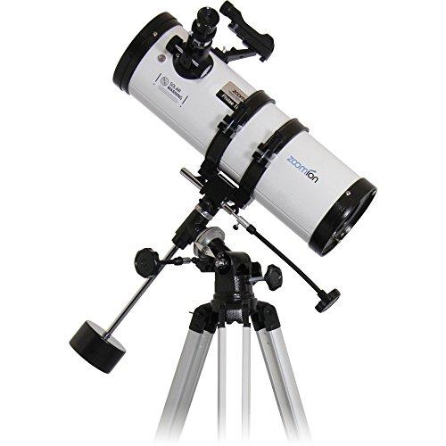Zoomion Philae 114/500 EQ riflettore telescopio - Cannocchiale astronomico con treppiede, Supporto e oculari per Bambini e Principianti