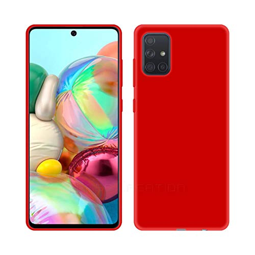 Case Creation Luxurious OG Series for Samsung A71 Case Cover,Anti-Dirty Slim Case Frosted Matte Cute Candy TPU Raised Bezel (Splash of Color) Back Cover for Samsung Galaxy A71 - Glamour Red
