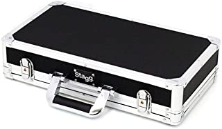 Stagg UPC-424 Guitar Effect Pedals Case with High Density Foam Padded Interior - Black