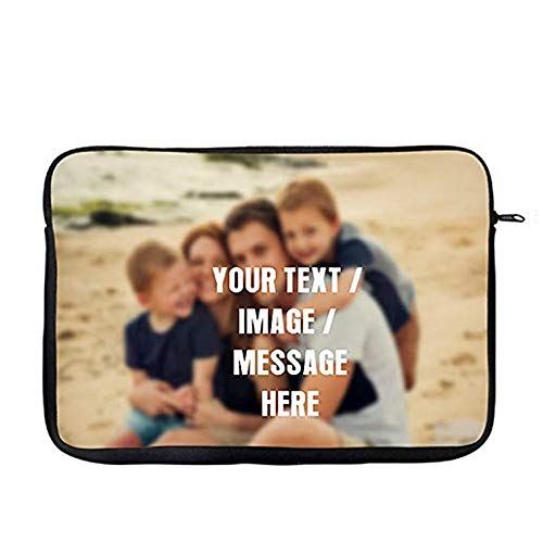 "Personalised with your own Text/Image/Any Name themed Slim Fit The Ideal Travel Bag To Keep Your Laptop Safe Compatible W / 13"" / 14"" / 15"" Laptop Sleeve Unique Laptop Accessories (14')"