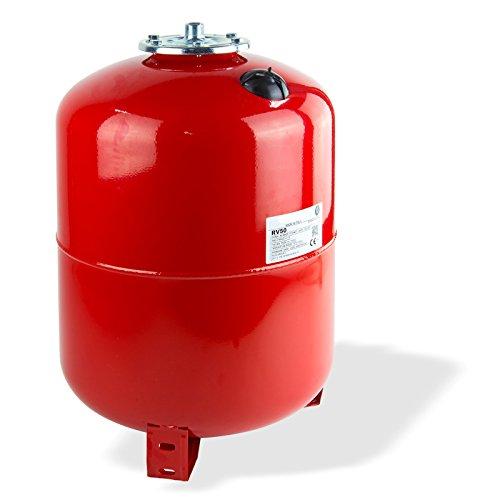 Stabilo-Sanitaer Ausdehnungsgefäß 35L 35 Liter stehend Ausgleichsbehälter rot Heizung Druckausdehnungsgefäß