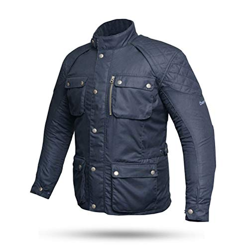 Degend Oxford Motorradbekleidung | Herren-Motorradjacke wasserdicht und atmungsaktiv (Größe S - 6XL), 5040104, Schwarz, 5040104 Large