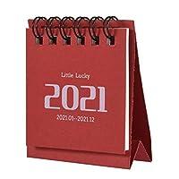 2021デスクカレンダー、デスクトップスタンドアップフリップ月間カレンダー、ミニポータブル2021年カレンダー、アカデミックイヤースタンディングデスクカレンダー、オフィスの教室と家庭用