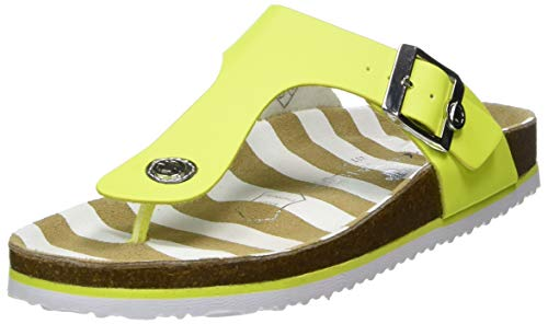 TOM TAILOR Damen 8093408 Zehentrenner, Gelb (Neon Yellow 02474), 40 EU