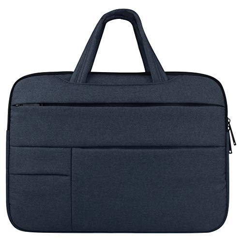 Universal Multiple Pockets Wearable Oxford Cloth Soft Portable Leisurely Handle Laptop Tablet Bag, For 12 inch and Below durable (Color : Navy Blue)