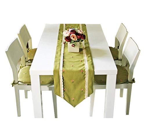 LIZHIQIANG Bandera de mesa, bordada rural, simple y moderna, para mesa de té, 35 x 150 cm, 35 x 180 cm, 35 x 200 cm (tamaño: 35 x 150 cm) LI (tamaño: 35 x 180 cm)